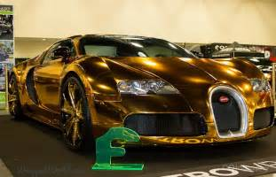 Golden Bugattis Definition Of Ghastly Flo Rida S Gold Chrome Bugatti Veyron