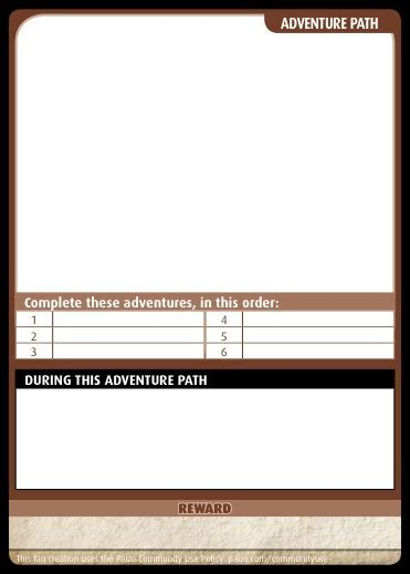 Peginc Forum Item Card Template paizo community use package pathfinder adventure