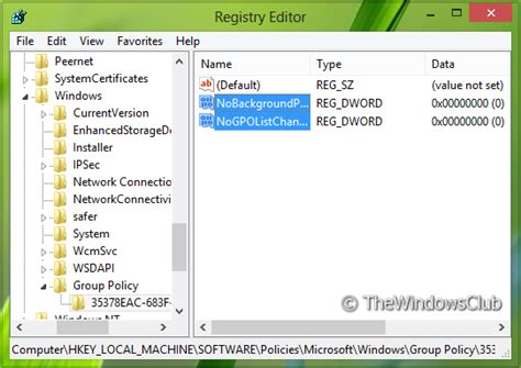wallpaper windows registry disable background processing or refresh of registry