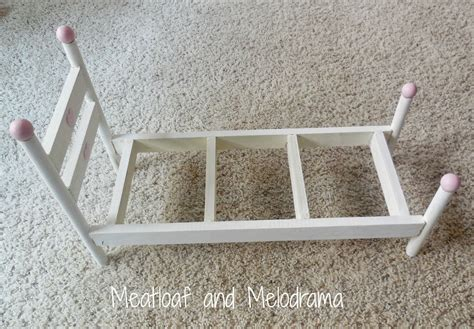 diy doll bed six diy american girl doll gift ideas meatloaf and melodrama