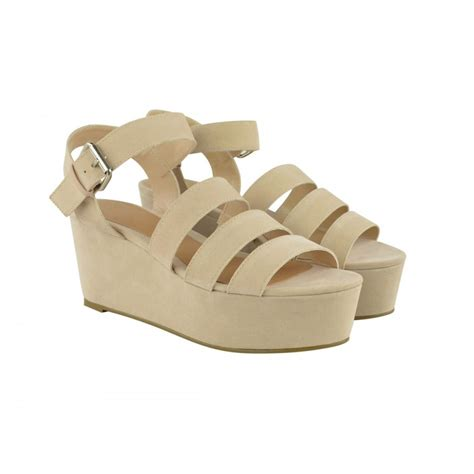 strappy wedge sandals strappy flatfom wedge sandals from parisia fashion