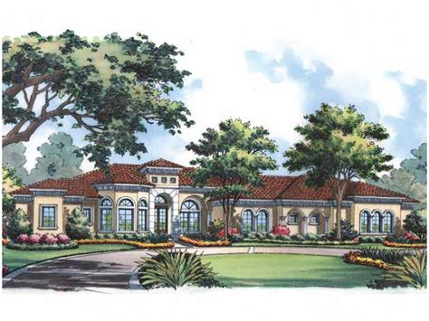 single story mediterranean house plans one story mediterranean style hwbdo15064 mediterranean from builderhouseplans com