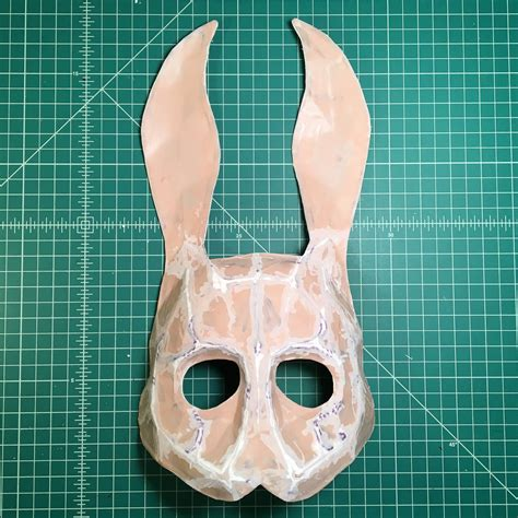 Splicer Mask Papercraft - project writeup bioshock bunny splicer mask modulus props