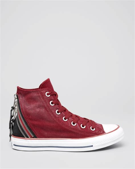 high top lace up sneakers converse lace up high top sneakers tri zip in lyst