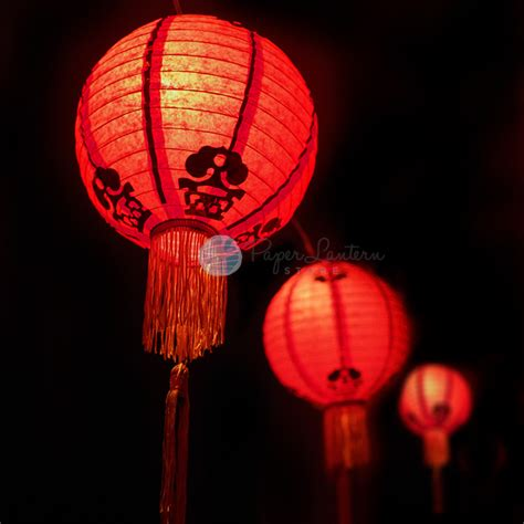lantern lights string 16 quot traditional new year paper lantern string