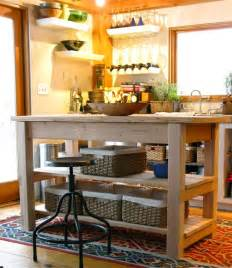 Kitchen Island Table Plans by Domestic Diy Kitchen Island Plans