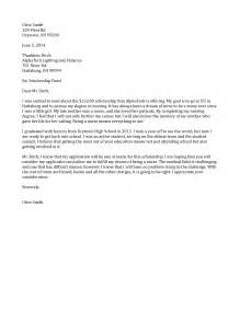 Cover Letter Exles For Scholarships by Scholarship Cover Letter My Document