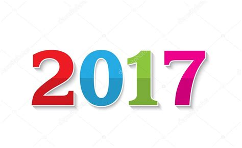 new year 2017 toto 2017 new year text design on white background stock