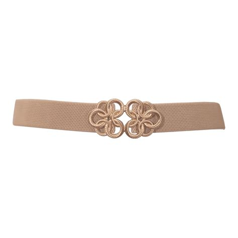 Buckle Elastic Belt plus size gold tone buckle elastic belt beige evogues