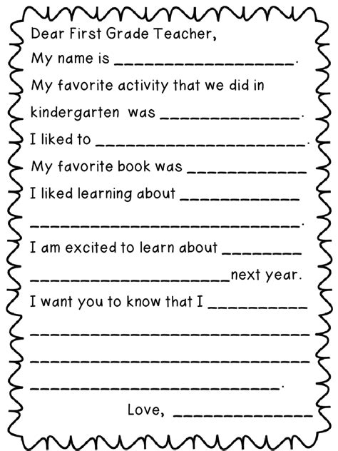 First Grade Funtastic Letter To Next Year S Teacher Freebie