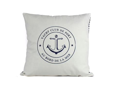 Nautical Pillows Wholesale by Buy Yacht Club Anchor Decorative Throw Pillow 16 Inch