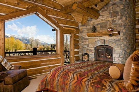 log cabin bedroom decor rustic bedrooms design ideas canadian log homes