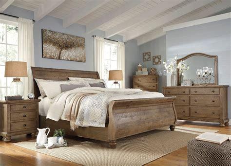 light brown bedroom furniture trishley light brown sleigh bedroom set from ashley