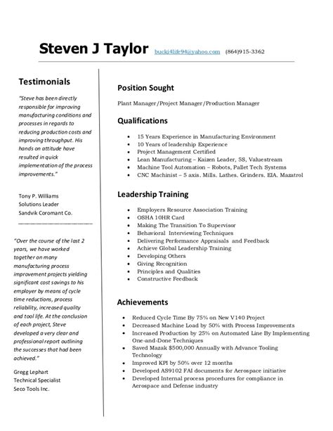 cnc machinist resume template steve resume