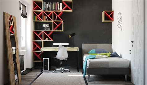 red and black room super colorful bedroom ideas for kids and teens