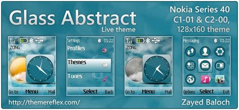 nokia 2690 best themes glass abstract live theme for nokia c1 01 c2 00 2690