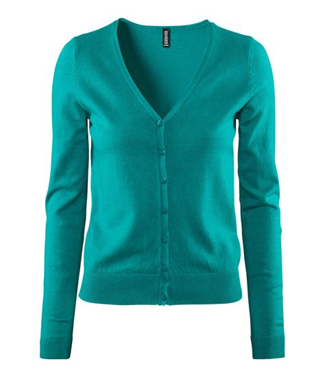 Fashion Find Sweater Jackets by H M Cardigan In Green Turquoise Lyst