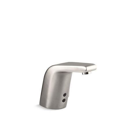 kohler touchless kitchen faucet kohler sculpted battery powered single touchless bathroom faucet in vibrant stainless k