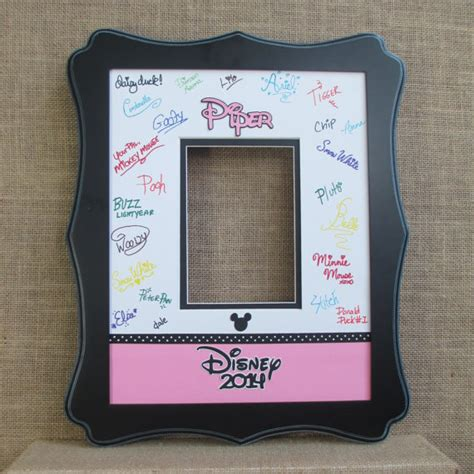 Autograph Photo Mat by Disney Inspired Autograph Photo Mat Matte Beveled Cut