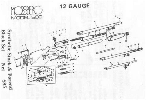 mossberg 500 parts diagram mossberg gun parts