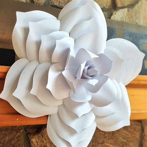 giant paper flowers pattern paper flower template diy paper flower paper flower