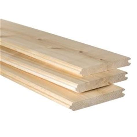 1 in x 6 in x 8 ft premium tongue and groove cedar