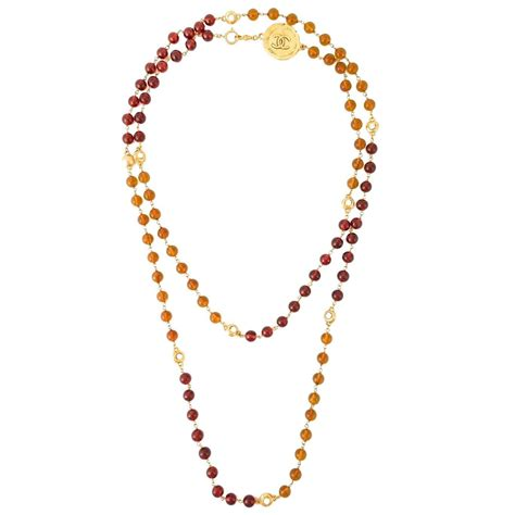chanel beaded necklace chanel vintage gripoix beaded necklace for sale at 1stdibs