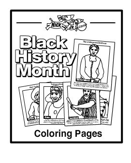 Nick Jr Black History Month Coloring Pages | nick jr black history month printables sketch coloring page