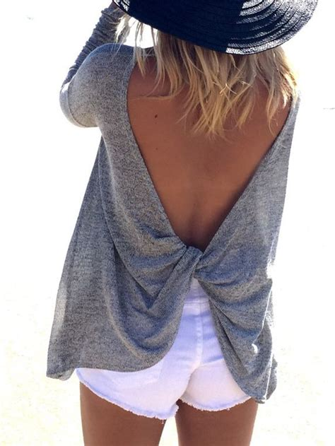 Backless Grey Shirt 25 best backless shirt ideas on backless