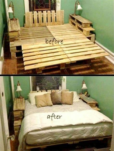 Pallet Wood Bed Frame Recycled Wood Pallet Bed Ideas Pallets Wood Pallet Beds And Wood Pallets