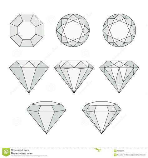 home design free diamonds vector icons set stock