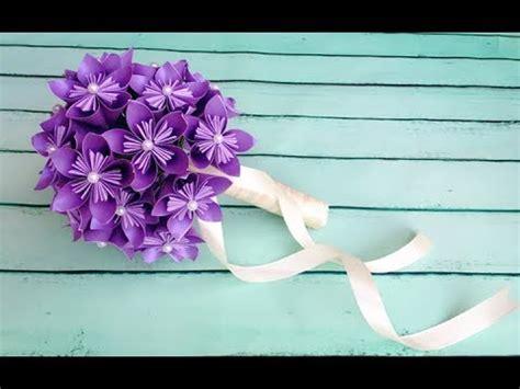 paper flower bridal bouquet tutorial abc tv how to make origami paper flower wedding bouquet