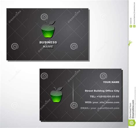 time card template for mac business card template stock photo image 15394440