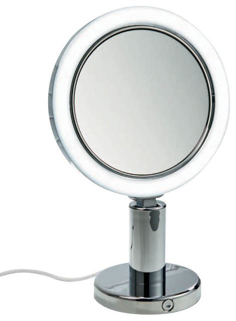 illuminated magnifying bathroom mirrors smile magnifying mirror illuminated 7x contemporary