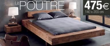 cadre de lit bois massif myqto