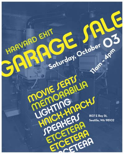 The Garage Capitol Hill by On The List The Harvard Exit Garage Sale Chs Capitol