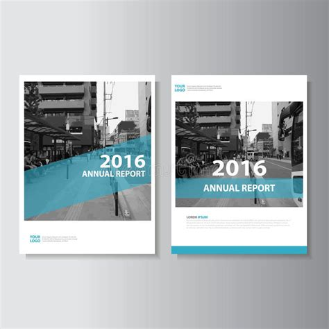 magazine leaflet design blue vector annual report magazine leaflet brochure flyer