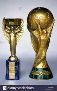 soccer world cup jules rimet trophy stock photo