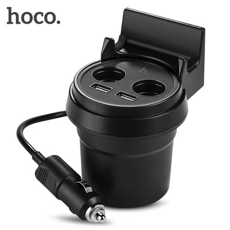 Charger Mobil Hoco Uc207 Multifunction Car Charger With 2 Usb Ports hoco uc207 multifunctional cup shape car charger dual usb
