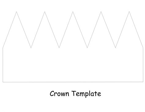 template of crown crown template