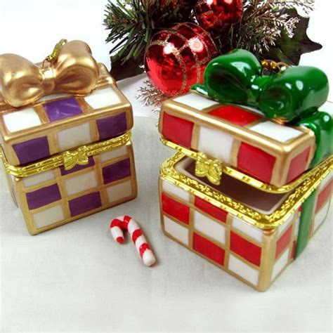 holiday gift box keepsake ornaments christmas favors