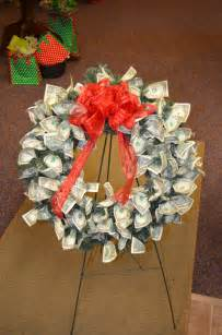 Money Origami Wreath - custom made money wreath 70 dollar bills for a 70th