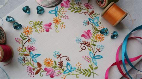 embroidery design kits transfer embroidery kit tranquillity brights