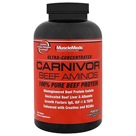 Amino Carnivor Beef 300 Tabs musclemeds carnivor amino beef 300 tabs suplemenstore