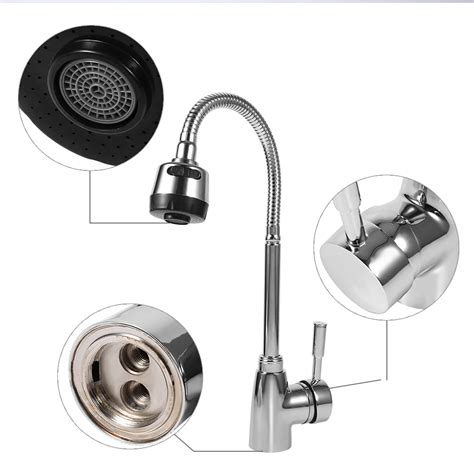 Bathroom Sink Faucet Leaking From Spout by Kitchen Bathroom Swivel Spout Single Handle Sink Faucet