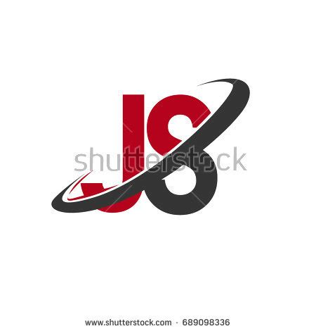 name pattern javascript js initial logo company name colored stock vector