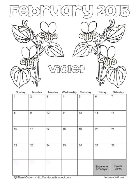 Free Color July 2015 Calendar Coloring Pages Calendar Coloring Page