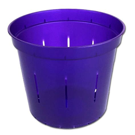Clear Planter Pots by 6 Quot Purple Amethyst Slotted Clear Planter