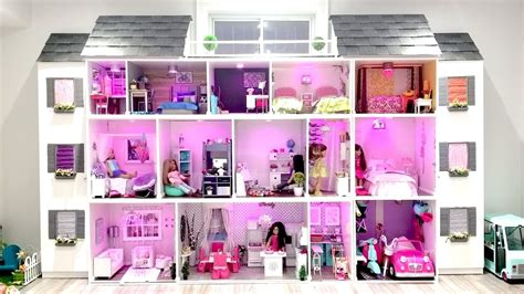 american girl doll house tour videos huge american girl doll house tour 2017 new youtube