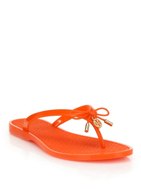 burch jelly slippers burch jelly bow sandals in lyst